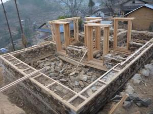 モデルハウスの建設状況